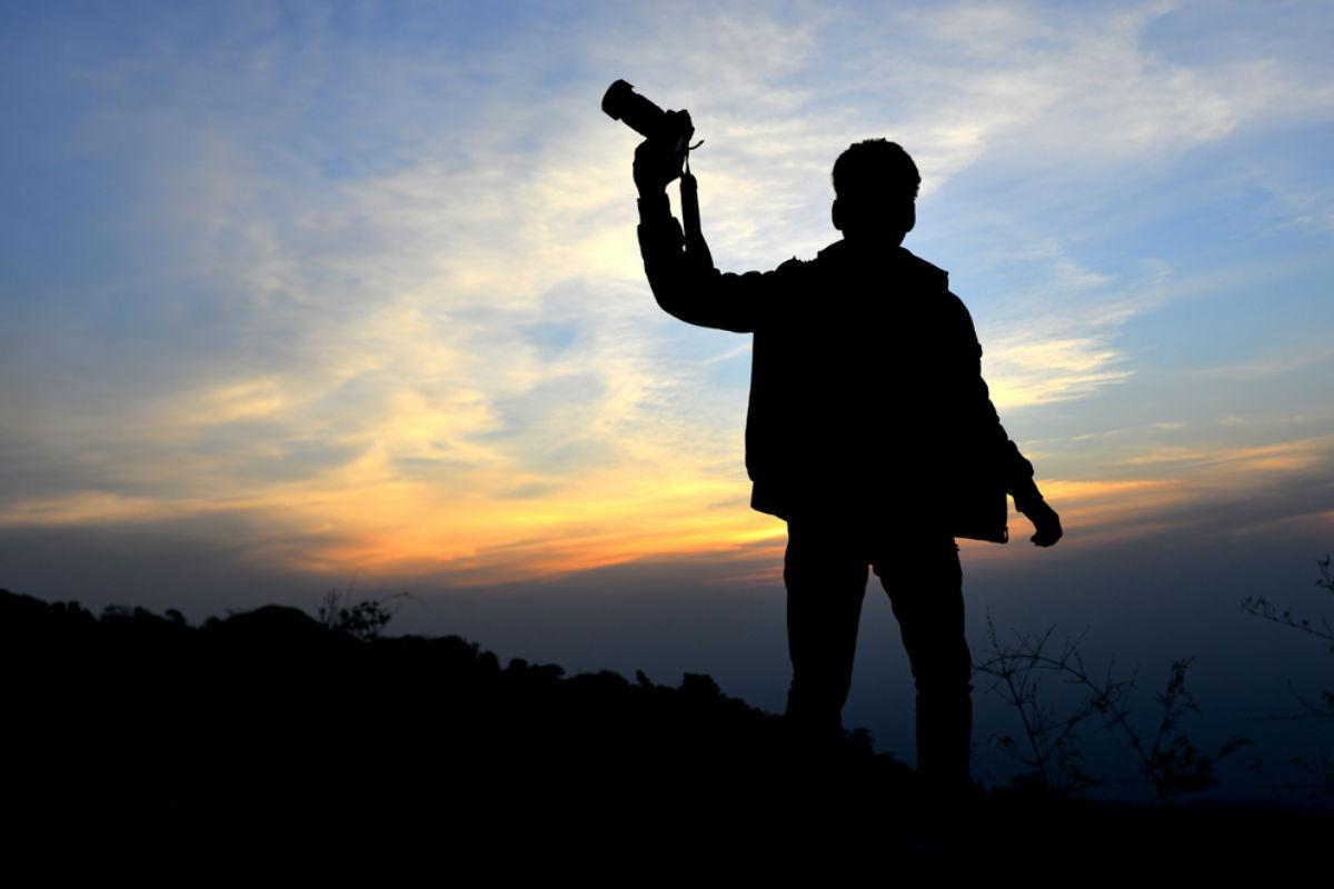 cámara fotográfica hombre poderoso foto perfecta