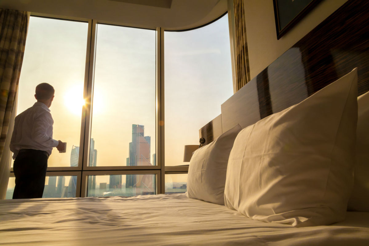 suite hotel hospedaje ventana dormir con leones