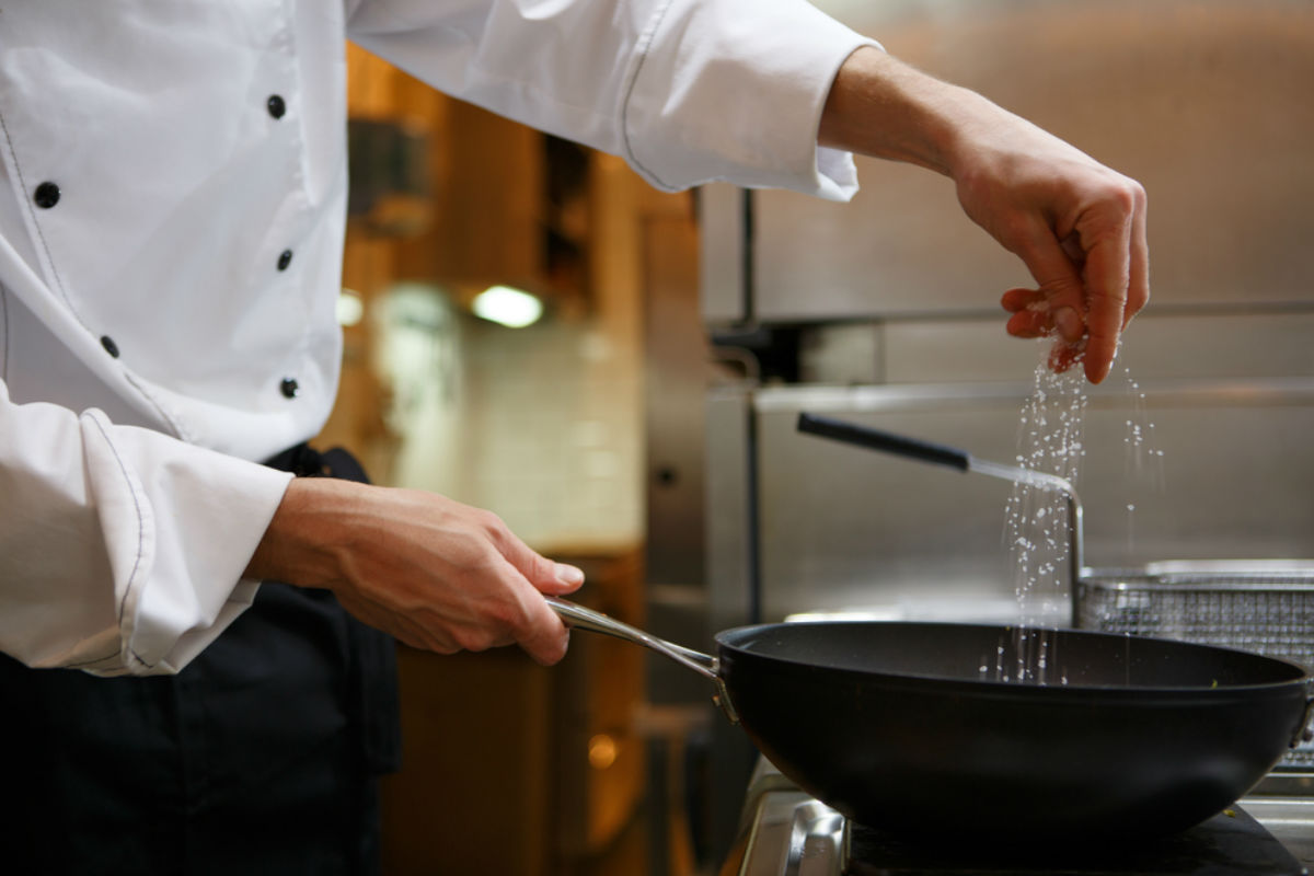 cocina sal sarten chef gourmet