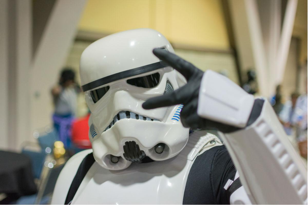 star wars storm trooper saga cine amor y paz