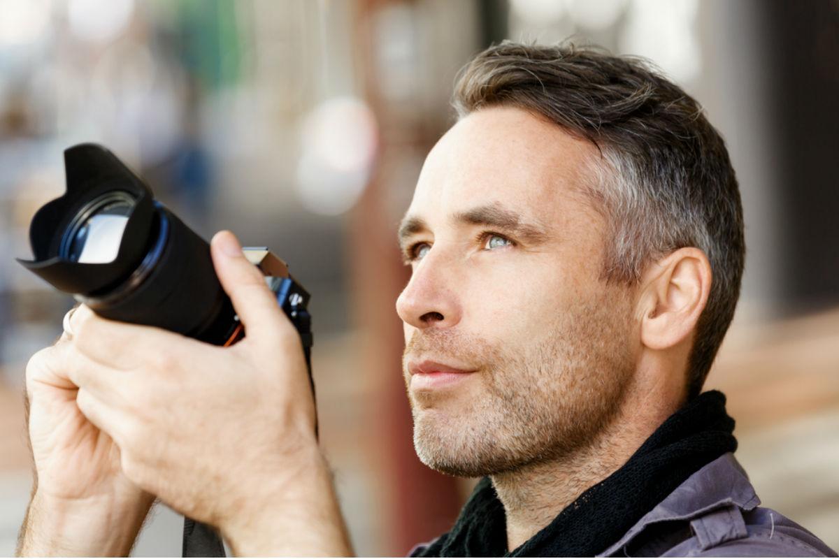 hombre fotografia camara profesional profesion
