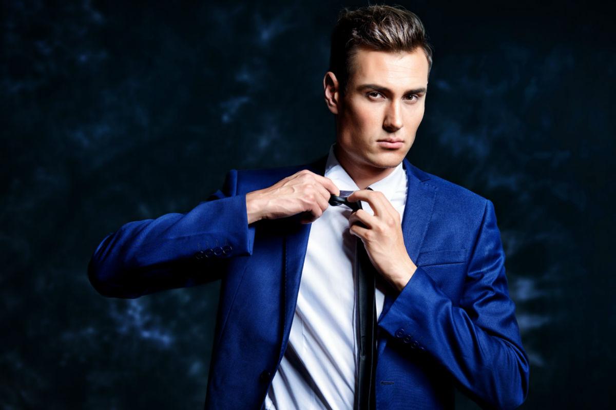 hombre saco elegante corbata camisa
