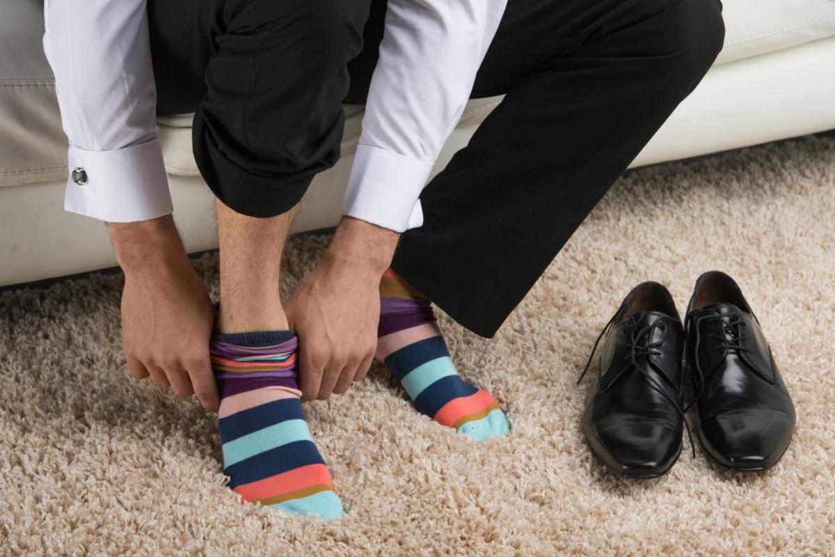 calcetas hombre pie zapatos calcetines extravagantes