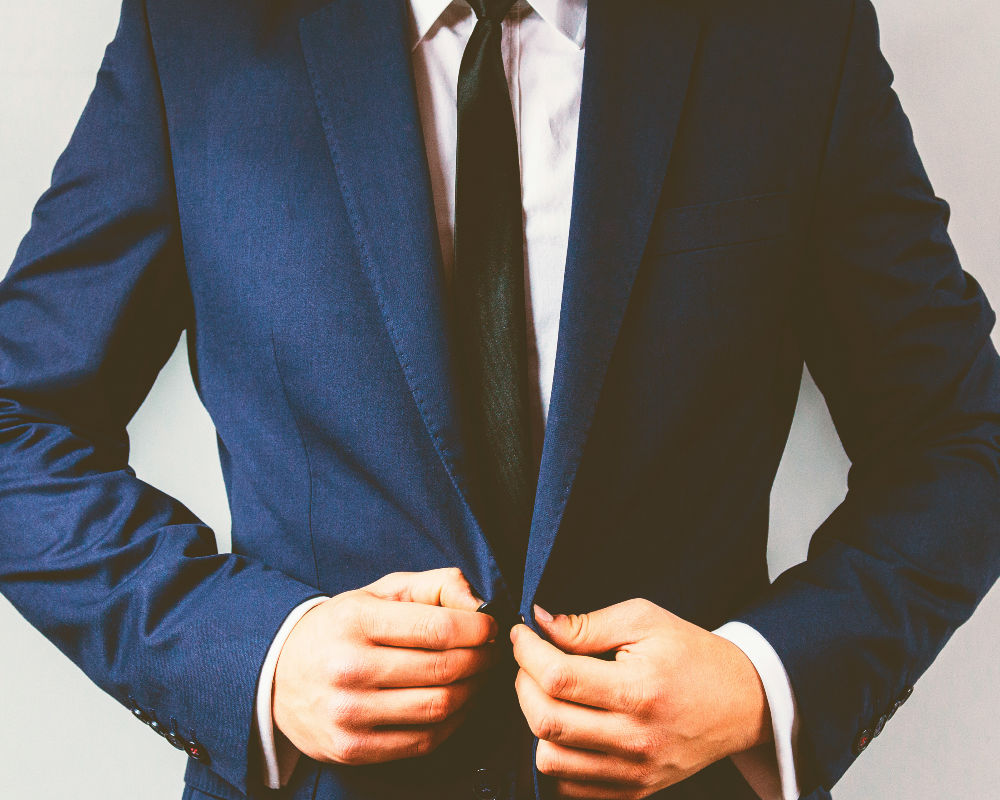 camisa blanca, traje, estilo