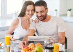 desayuno en pareja