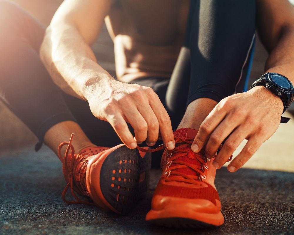 hombre haciendo ejercicio/ correr una hora